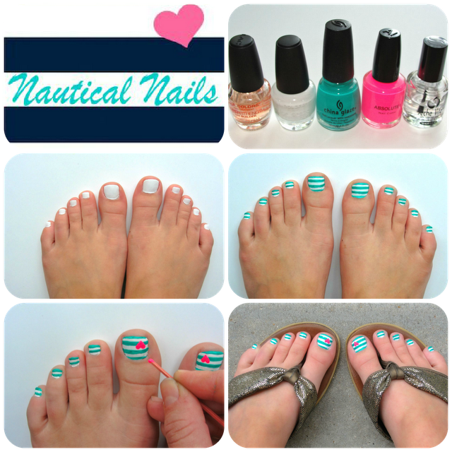 Nautical Nails by Amber Lindsey http://www.facebook.com/BeautyGuide101?ref=tn_tnmn