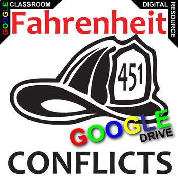 Fahrenheit 451 Conflict learners will explore the 6 major types in the novel. Middle and highschoolers will subconsciously enjoy the design of this 2-page graphic organizer as they take notes and analyze.NOVEL: Fahrenheit 451 by Ray BradburyLEVEL: 8th - 12thCOMMON CORE: CCSS.ELA-Literacy.RL.2ANSWER KEY: IncludedWhat is Created for Digital?