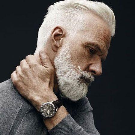 Pin Von Tressa Anderson Auf Portrait Frisuren Fur Altere Manner Barte Und Haare Herren Frisuren Mit Bart