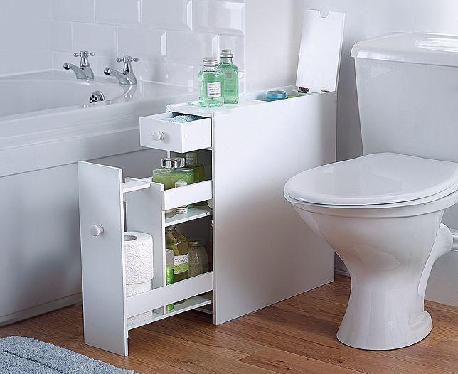 White Slimline Bathroom Cabinet Scotts Of Stow