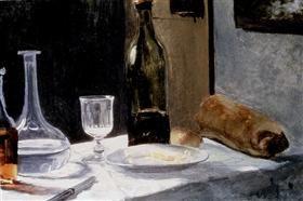 Still Life With Bottles - Claude Monet