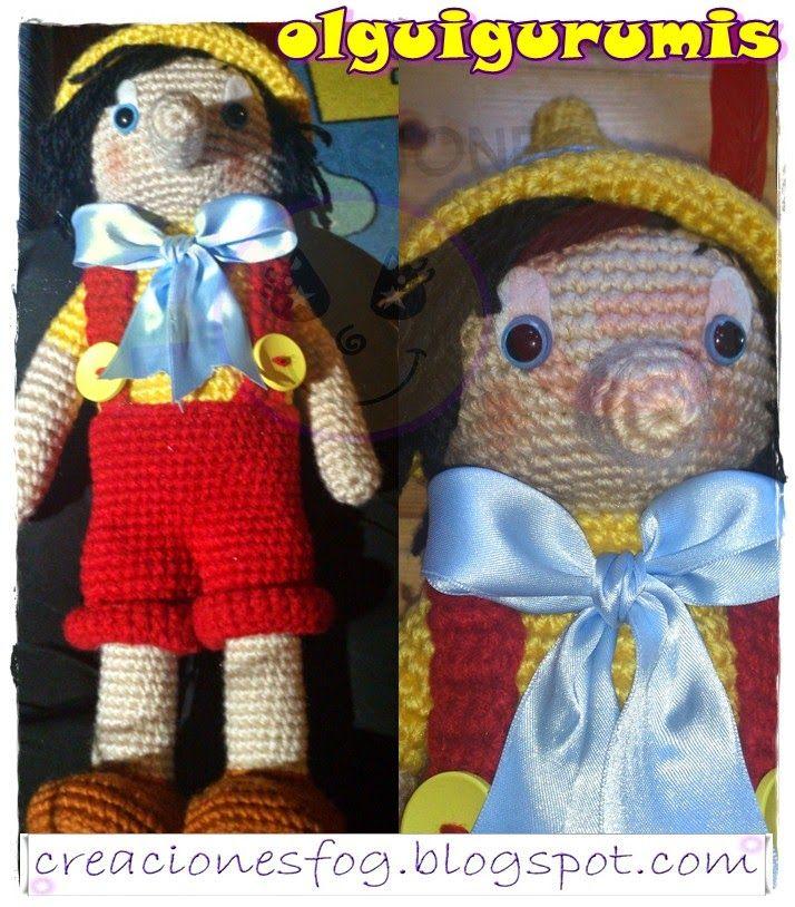 creaciones FOG: amigurumi Pinocho