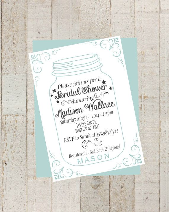 56ae2fd2b922 Mason Jar Bridal Shower Invite