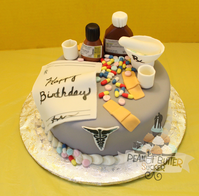 Nurse with medicine birthday cake Minha festa Pinterest