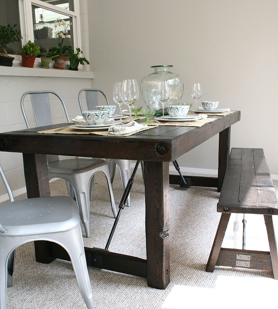 Cedar Dining Room Table: Solid Western Red Cedar Dining Table By EverettCo On
