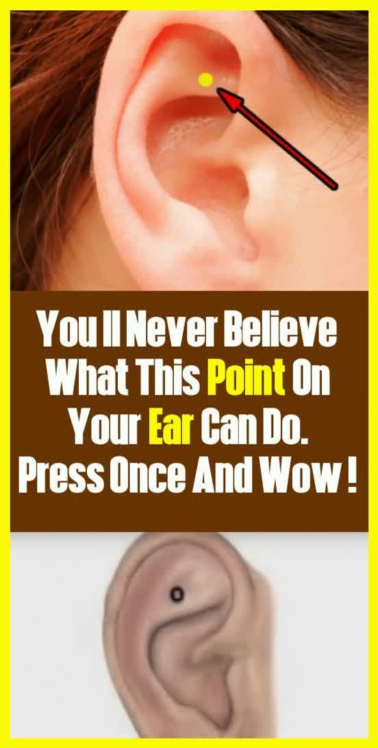 You'll Never Believe What This Point On Your Ear Can Do. Press Once And…