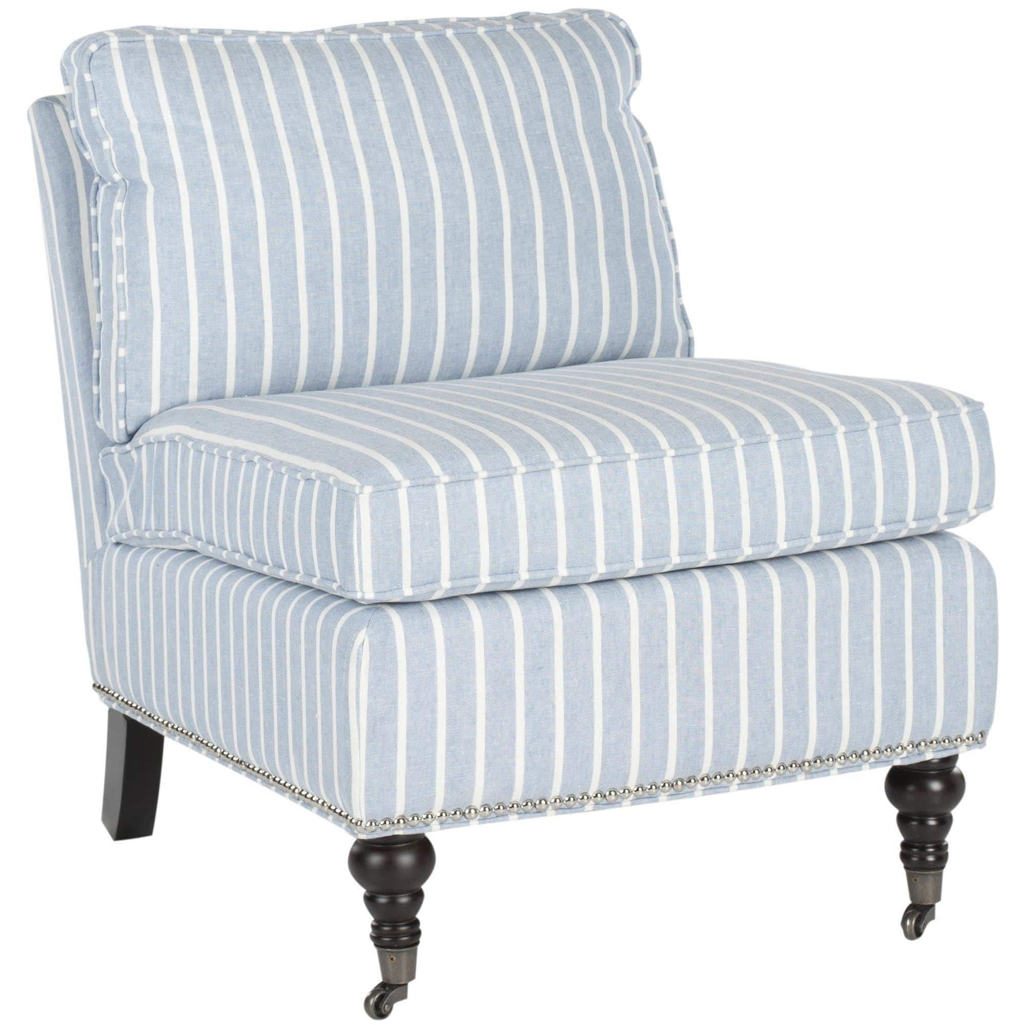 Best Safavieh Randy Light Blue Armless Club Chair Fabric 640 x 480