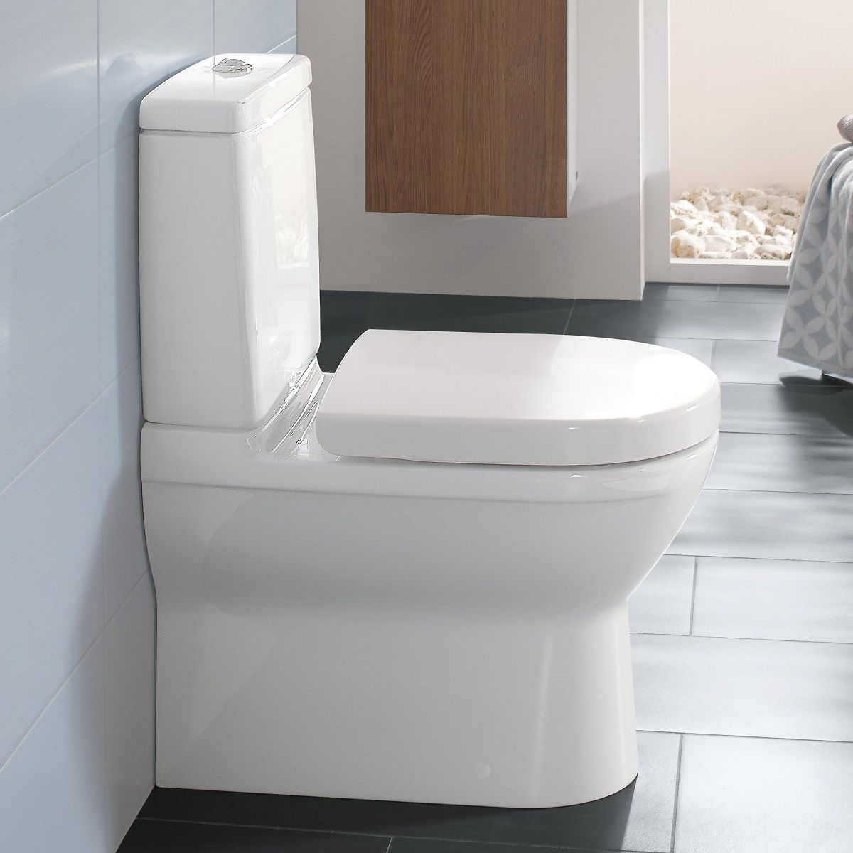 Villeroy And Boch O Novo Close Coupled Closed Back Wc Close Coupled Toilets Toilets For Sale Wc Design