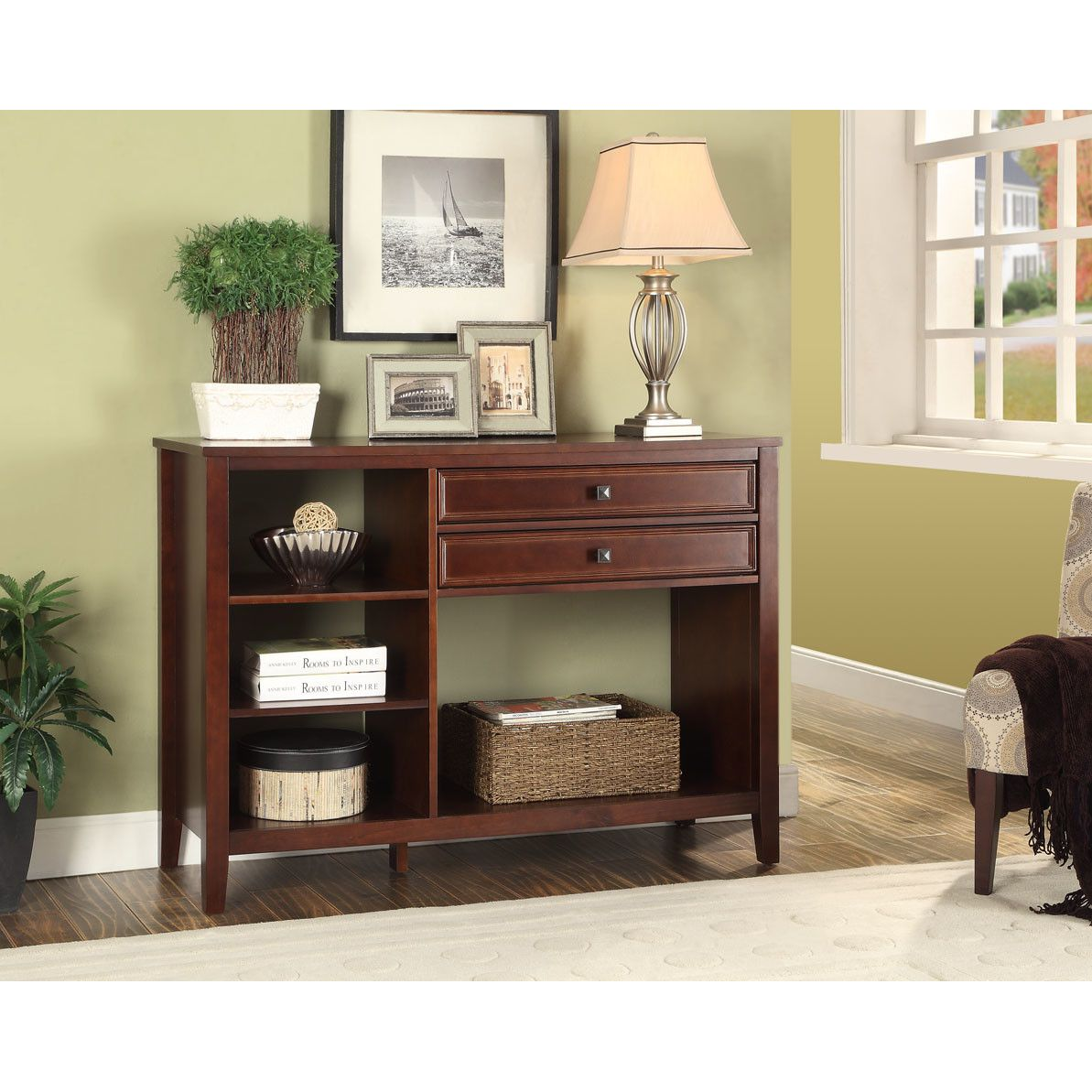Alcott hill nelsonville console table neck and shoulder tables rectangle brown traditional cherry manufactured wood frame with pine wood veneers metal nelsonville console table with drawers funky console table geotapseo Gallery