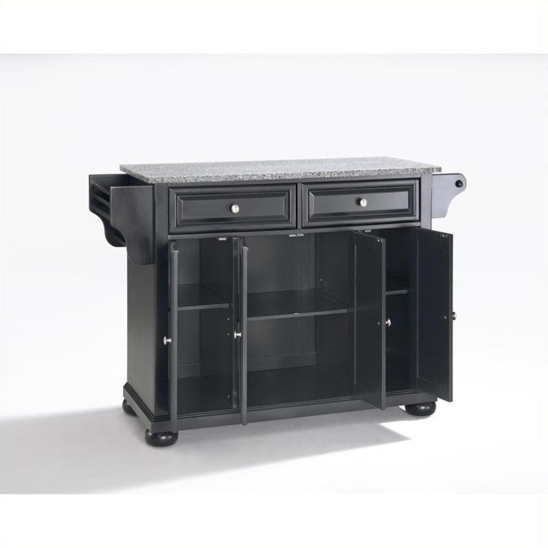 Lowest price online on all Crosley Furniture Alexandria Solid Granite Top Kitchen Island in Black - KF30003ABK