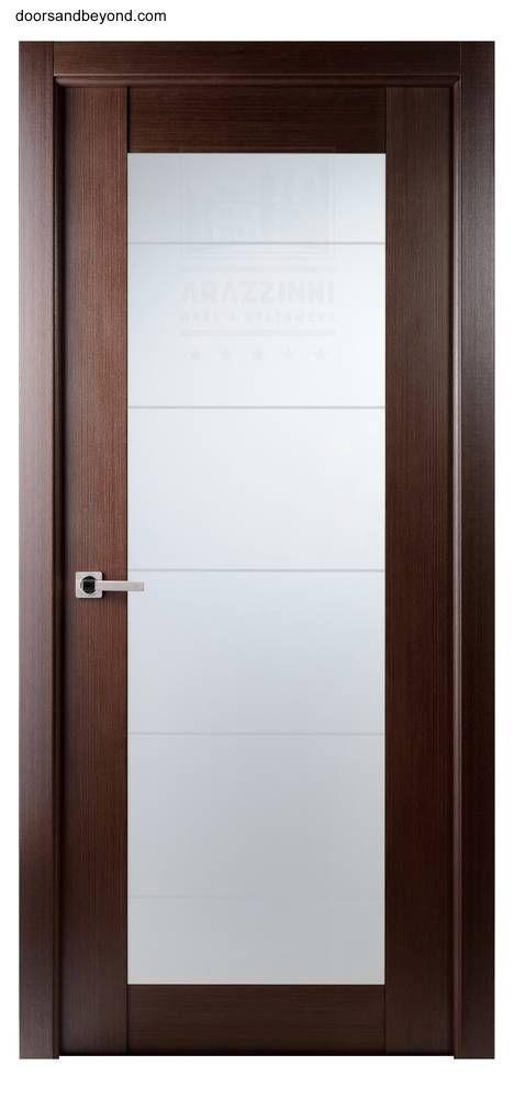 Modelo De Puerta Interior Contemporanea Puertas Madera Y Vidrio Puertas Interiores Puertas De Banos