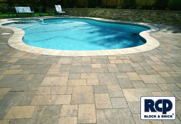 interlocking pavers | interlocking pavers around pool deck photo