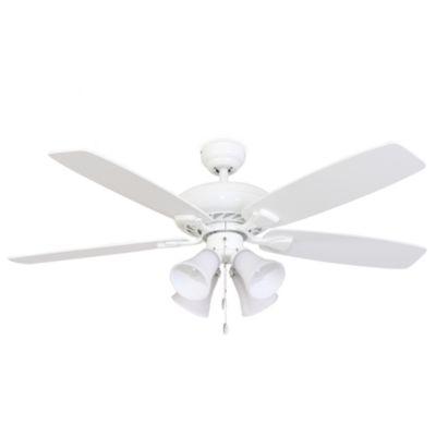 52 Fells Point 4 Light White Ceiling Fan