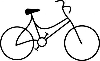 Bike Outline Bicycle Drawing Bike Drawing Simple Bike Drawing