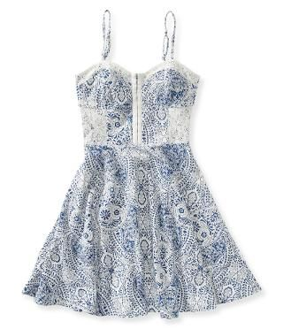 Paisley Bustier Dress - Aeropostale