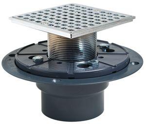 Sioux Chief Pvc Shower Pan Drain Head Square Chrome S8212pqcp