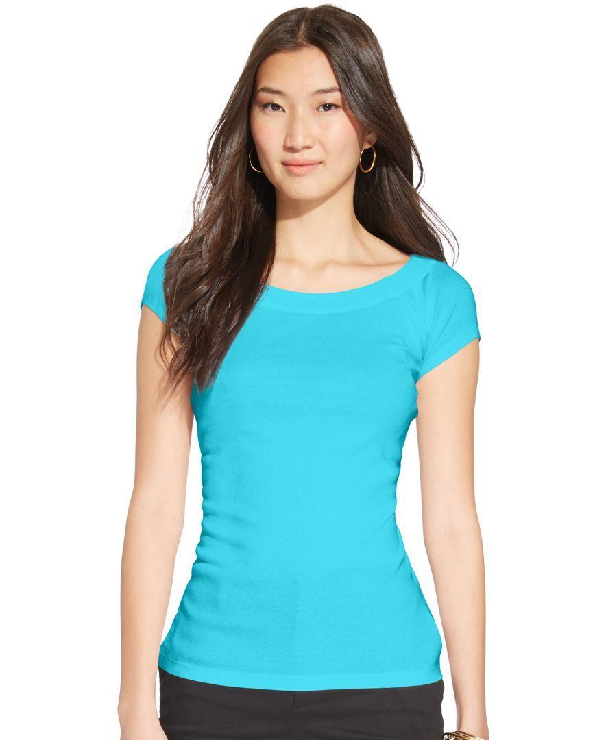 Lauren Ralph Lauren Plus Size Short-Sleeve Boat-Neck Top | Products ...