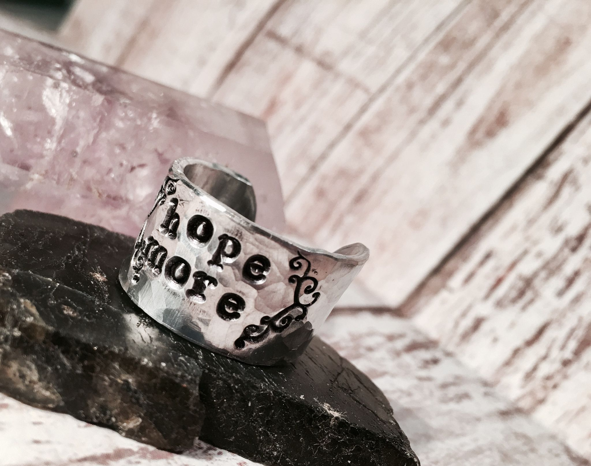 Flourish HOPE MORE Cuff Ring