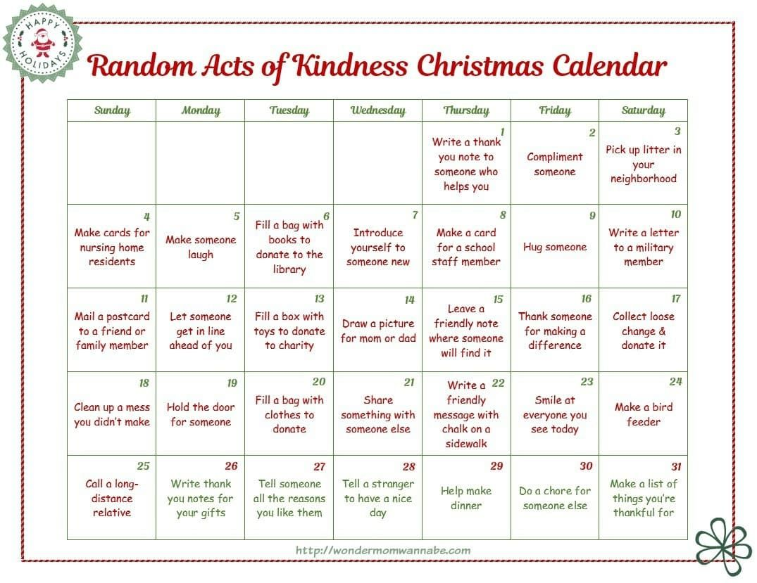 28 Different Random Acts Of Kindness Ideas In Four