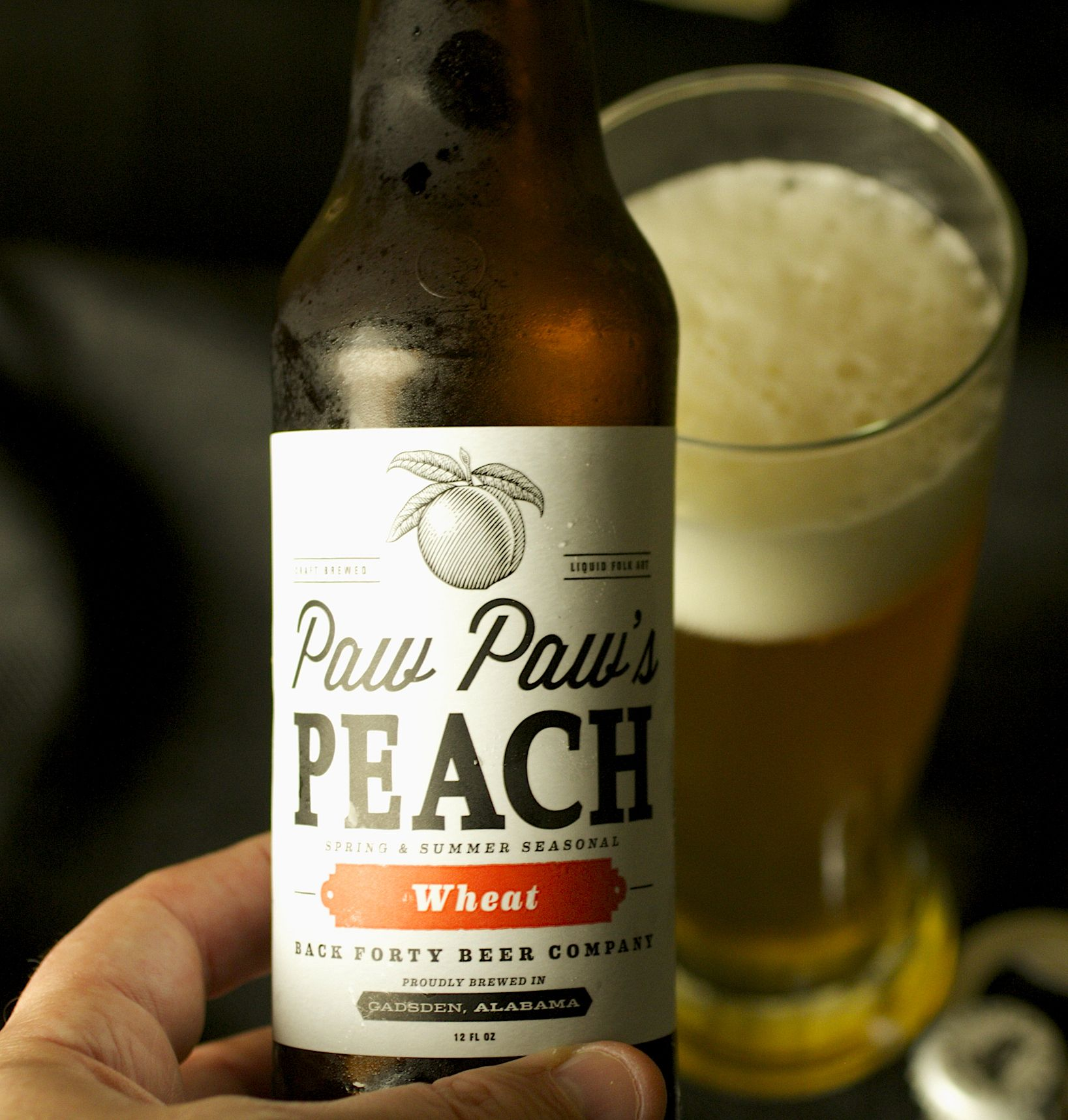 Paw Paws Peach from Back Forty Brewing Company