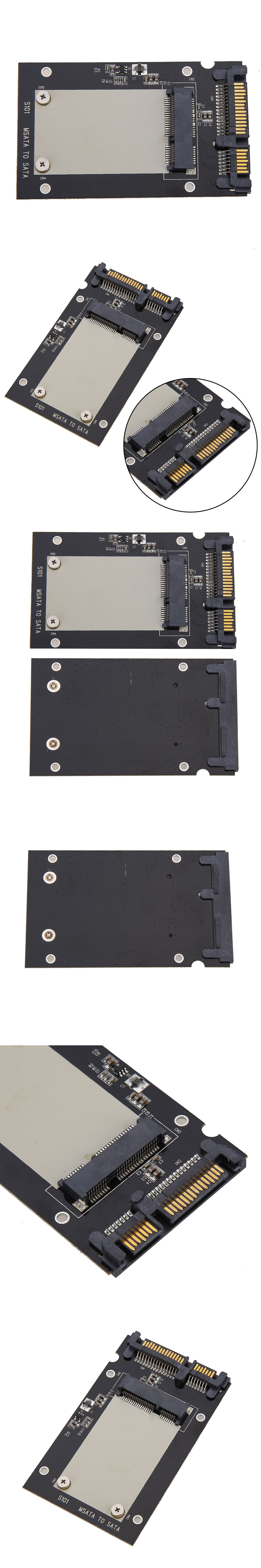 Universal Standard Msata Mini Ssd To 25 Inch Sata 22 Pin Converter Adapter Card For