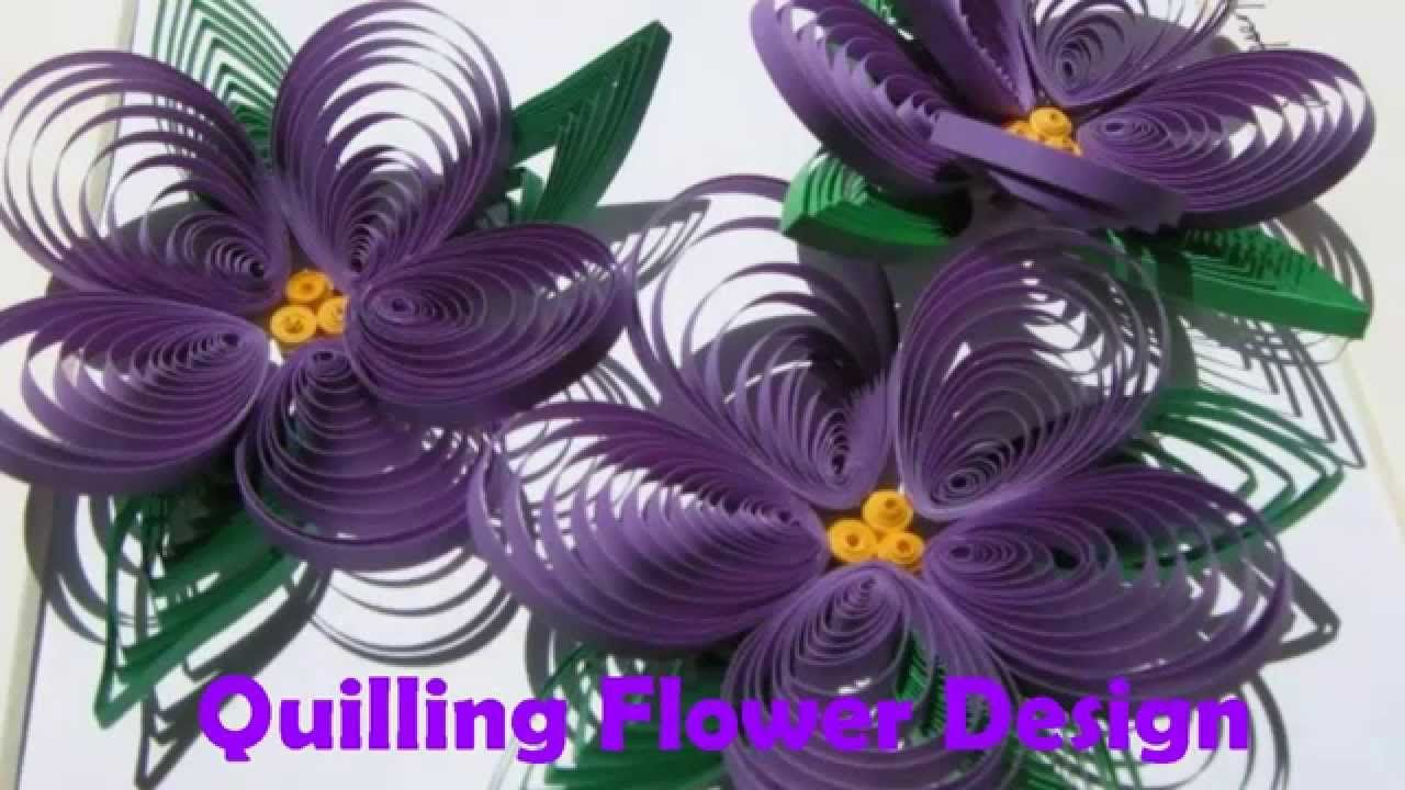 Diy Craft Ideas How To Make Beautiful Quilling Purpleyellow Flower