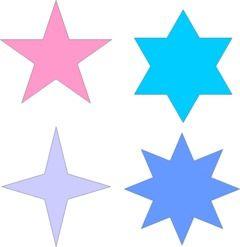 Moldes De Estrelas Para Imprimir E Recortar Moldes De Estrellas Estrellas Para Imprimir Dibujos De Estrellas