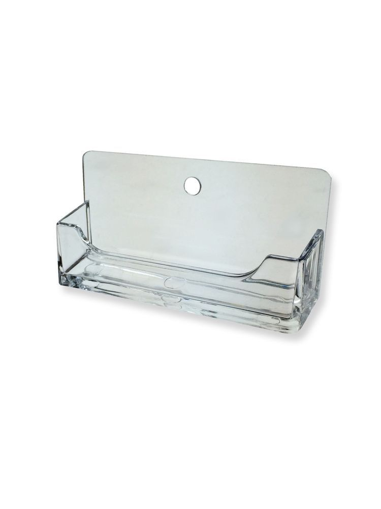 Clear Plastic Wall Mount Business Card Holder Display