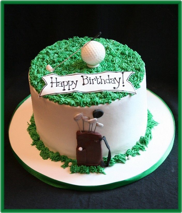 Cool Golf Golf Birthday Cakes Birthday Party Food Golf Themed Cakes Funny Birthday Cards Online Eattedamsfinfo