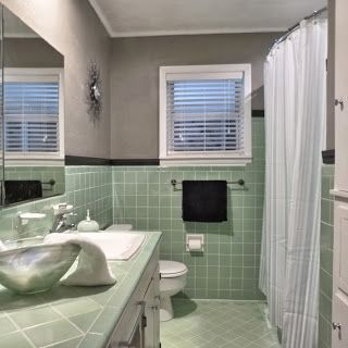 vintage green tile bathroom when we finally decided to keep it rh pinterest com