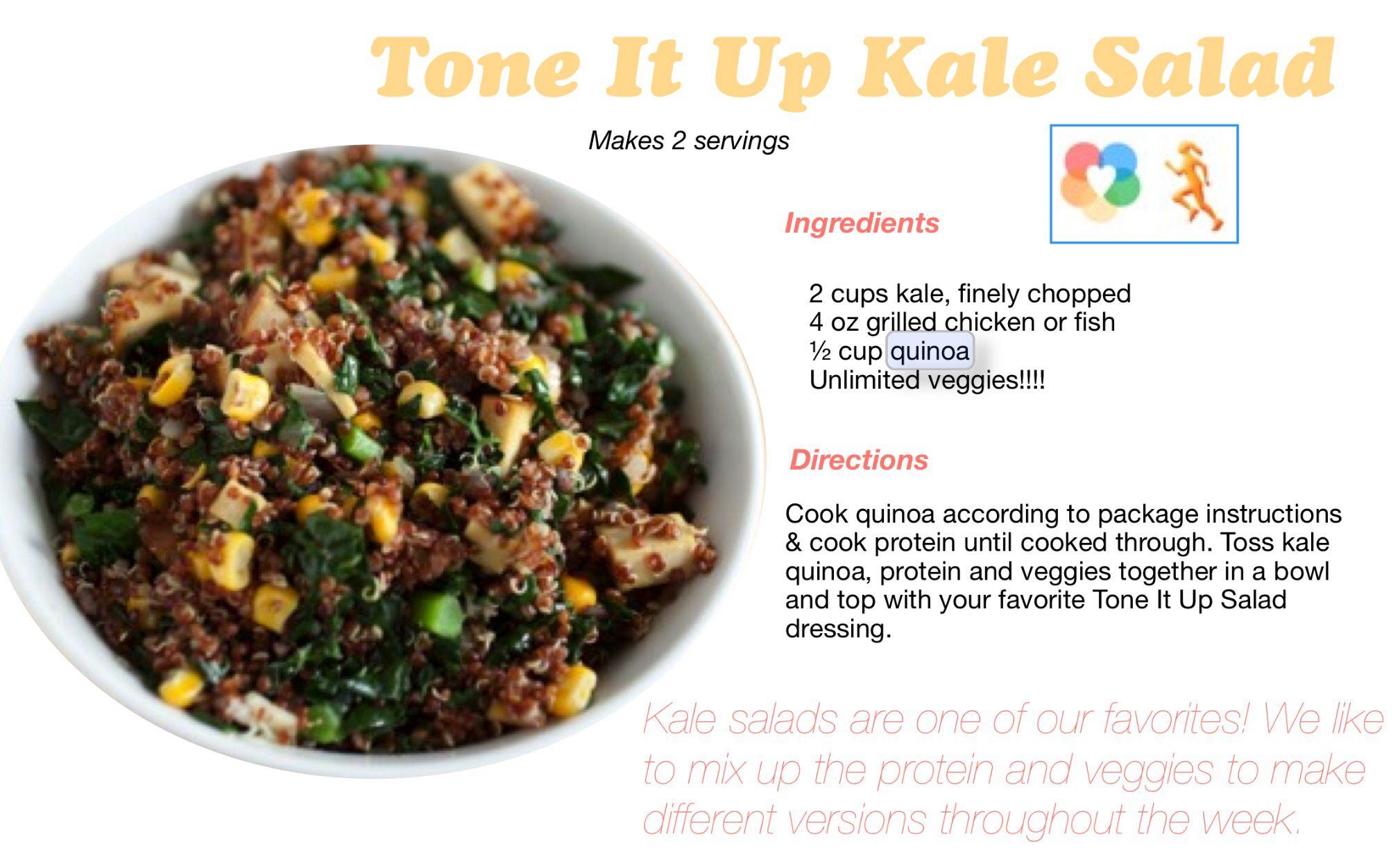 31+ Tone it up kale salad recipe ideas