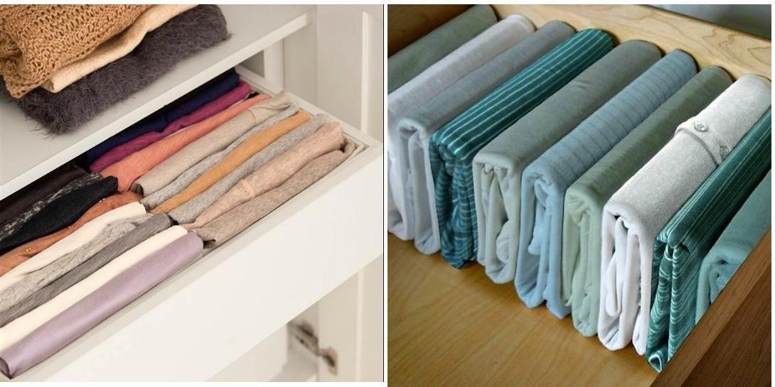 C mo organizar la ropa dentro de los cajones como - Como revestir un armario ...