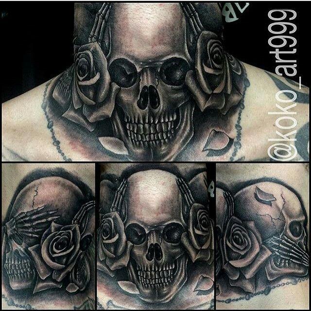 Hear No Evil See No Evil Speak No Evil Neck Tattoo Throat Tattoo Cool Chest Tattoos Tattoos