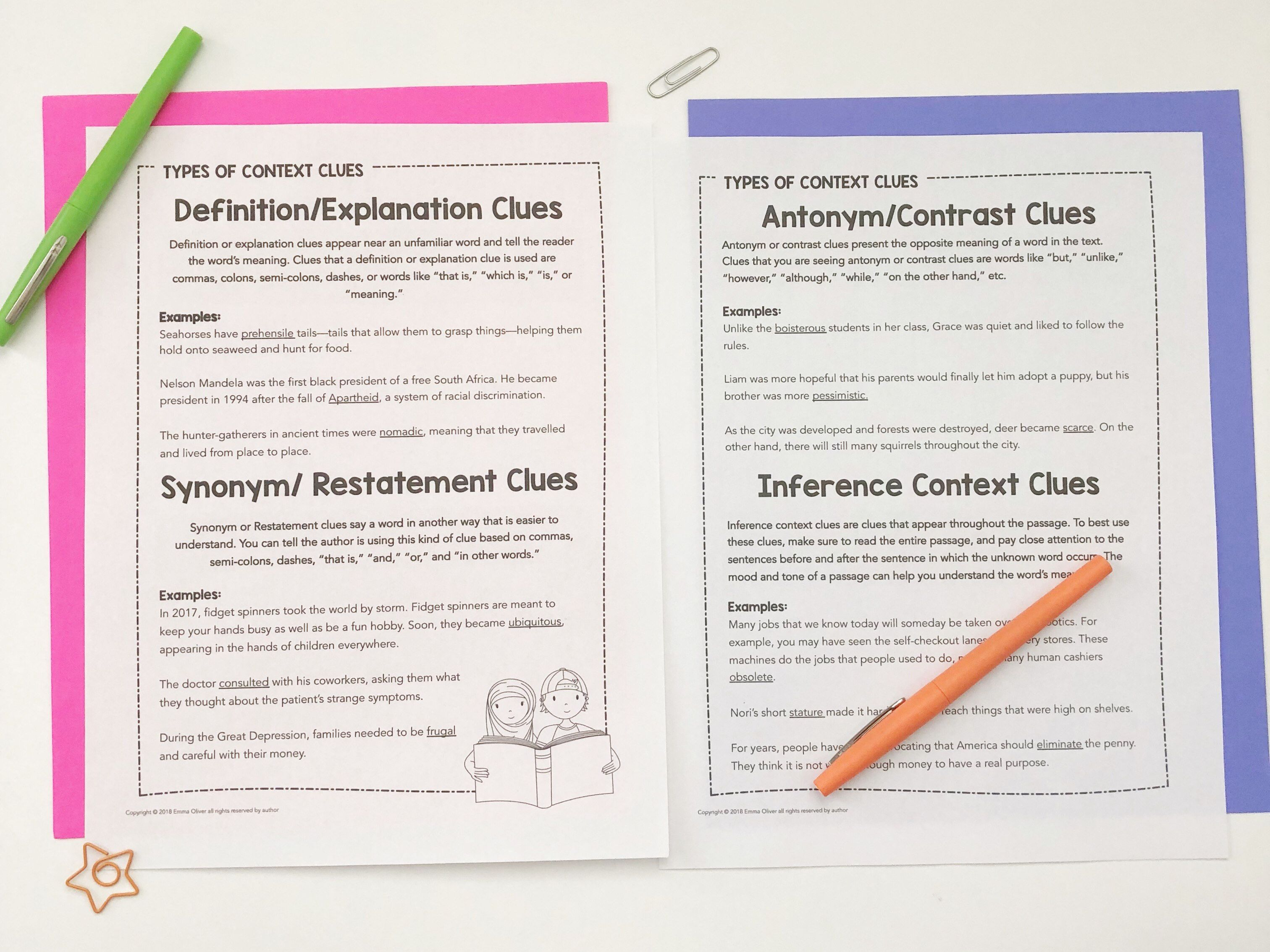 Teaching Students To Define Words Using Context Clues
