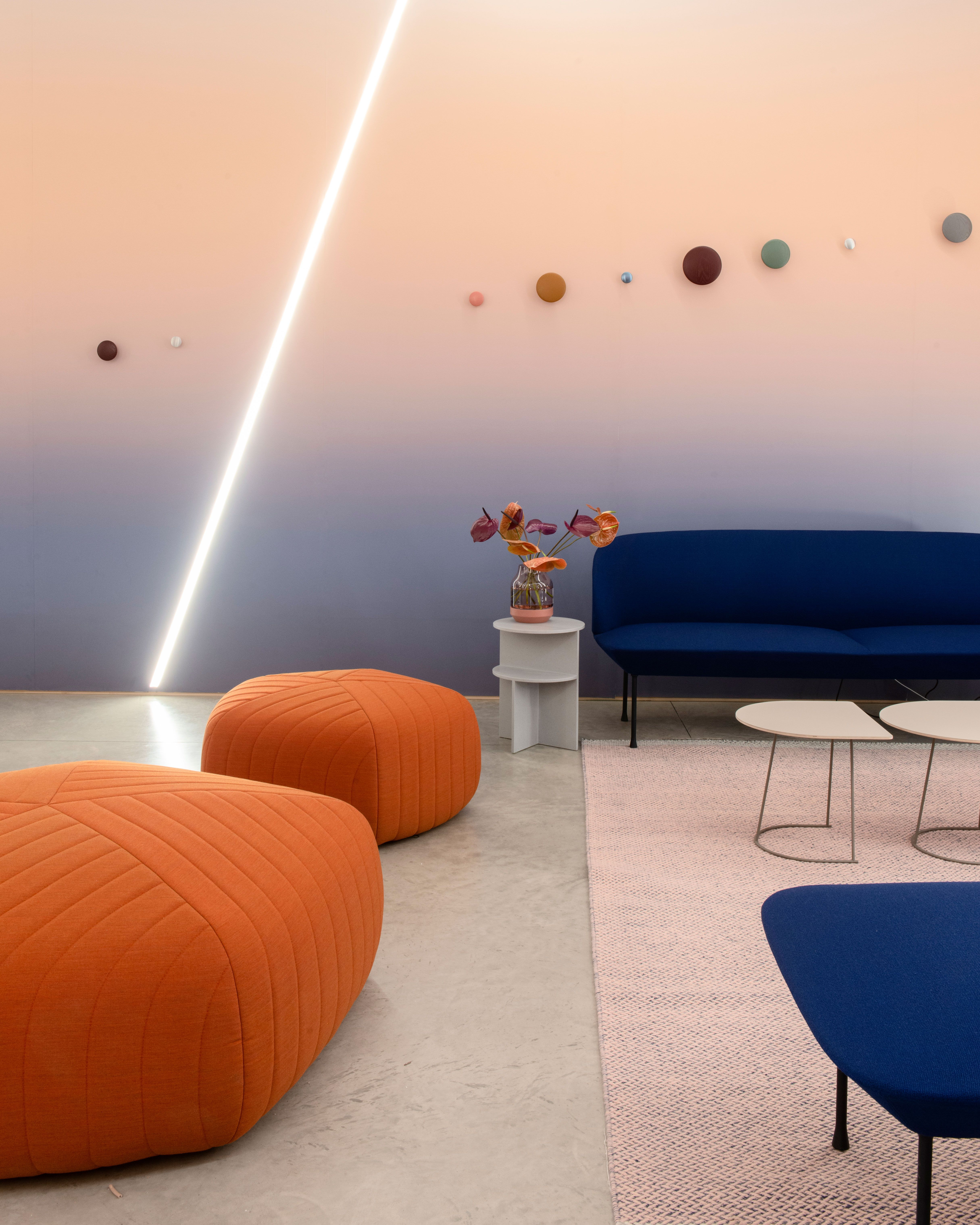 Modern And Playful Interior Decor Inspiration From Muuto The Five Pouf Is A Versatile Easy To Use Design That Is Both Comfortable And Contemporary With A Pen