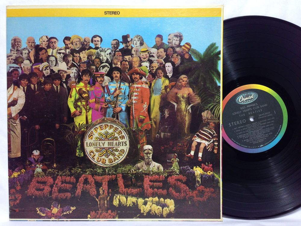 Beatles Sgt. Peppers Lonely Hearts Club Band Capitol SMAS 2653 Vinyl Record +