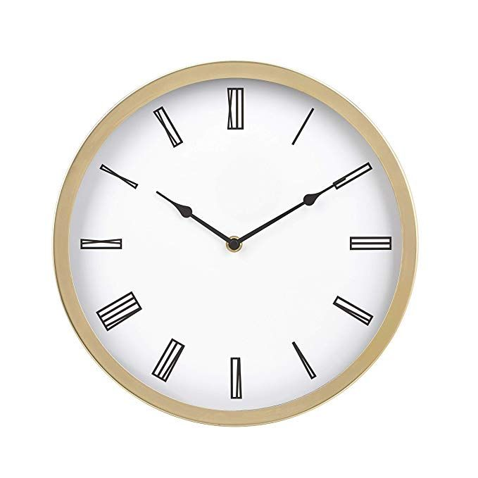 Amazonbasics 12 Roman Wall Clock Brass Review Wall Clock Brass Wall Clock Clock