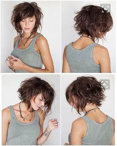 Luxus-nette kurze Haarschnitte mit seitlichen Pony und Schichten - Neue Haare Modelle #layeredcurlyhair