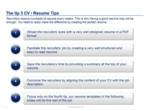 Resume  Cv Templates In Editable Powerpoint  Resume  Cv