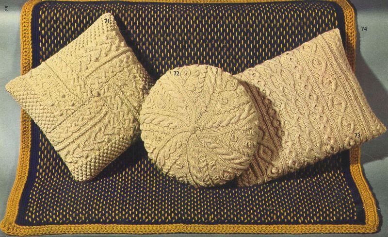 VCP475 aran cushion covers Vintage knitting pattern PDF ...