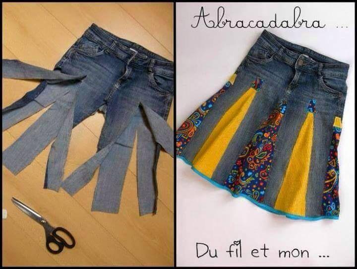 Customizacao de jeans. | Kleidung, Upcycling kleidung ...