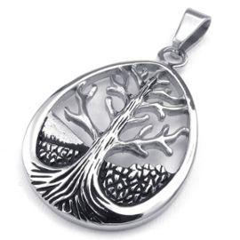 collier homme argent arbre