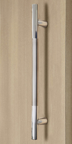 Pro Line Series Ladder Pull Handle Back To Back Brushed Satin Stainless Steel Grip Us32d 630 Finish Polished Stainless Steel Ends Us32 629 Finish Door Handles Door Pull Handles Modern Door