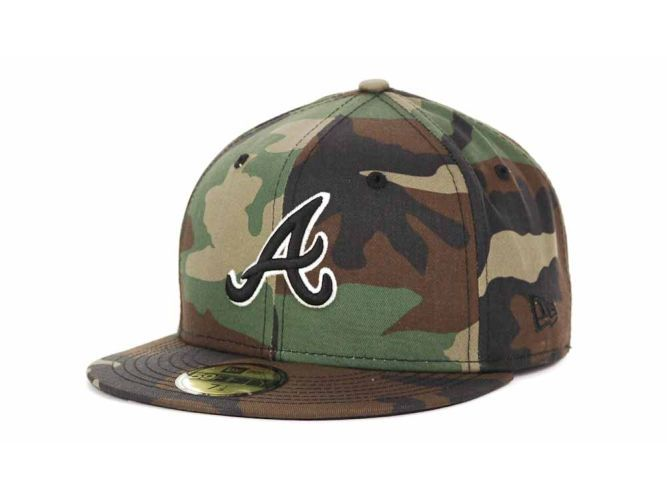 26f2ac68168 Atlanta Braves New Era MLB BC Camo 59FIFTY Cap Hats