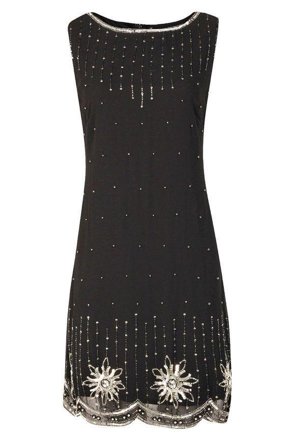 20er Jahre Stil Gatsby Tunika Top Abend verschönern Shift Kleid ...