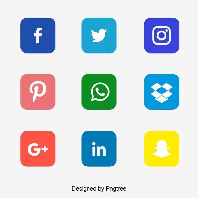 مجموعة أيقونات وسائل التواصل الاجتماعي وسائل التواصل الاجتماعي المرسومة الرموز الاجتماعية الأيقونات وسائل الإعلام Png والمتجهات للتحميل مجانا Social Icons Social Media Icons Media Icon