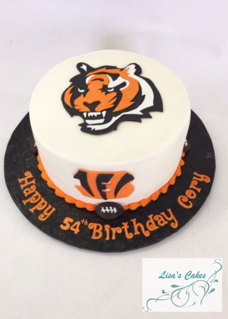 Cincinnati Bengals Birthday Cake Sport Themed Cakes Pinterest