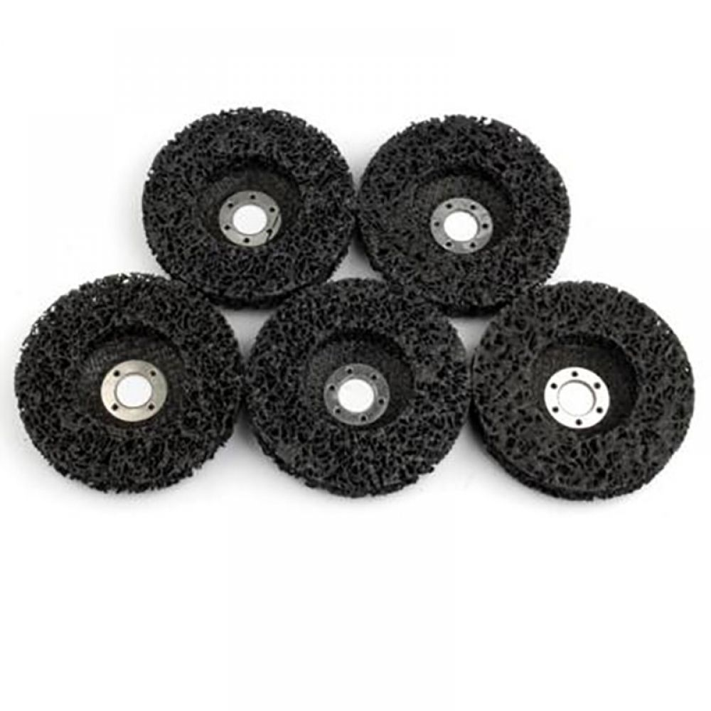 5pcs Abrasive Tools 115mm Strip Wheels Paint Rust Removal Clean Angle Grinder Discs Tools For Ang In 2020 How To Remove Rust Angle Grinder Abrasive