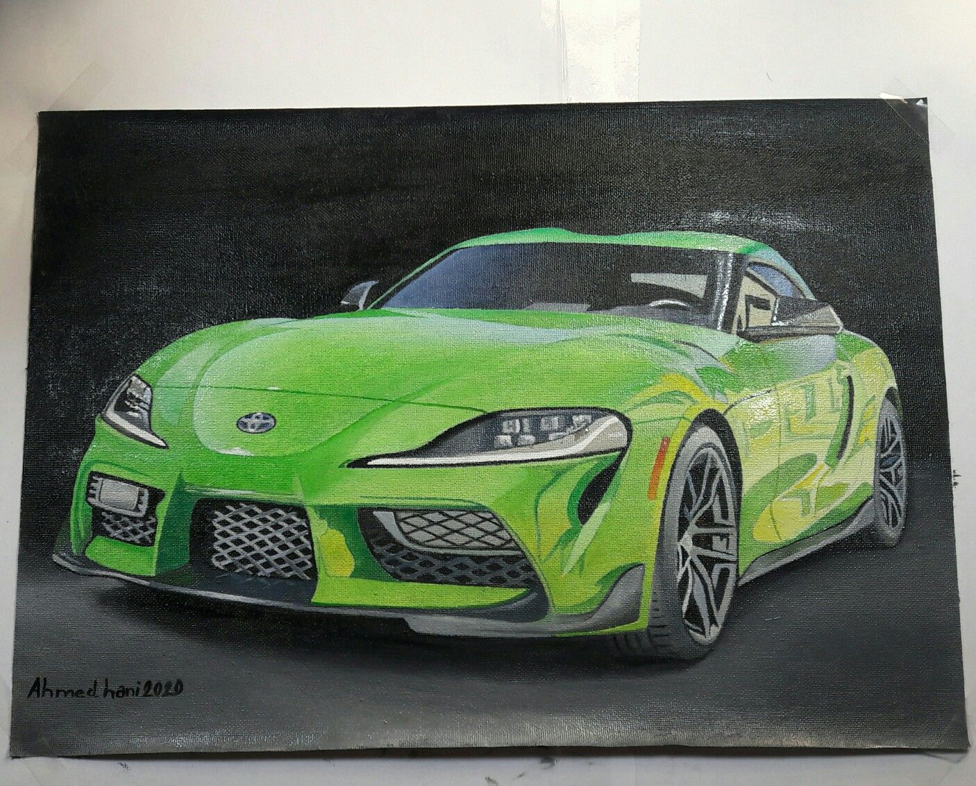 Drawing Toyota Supra رسم تويوتا سوبرا In 2020 Car Toyota Supra Sports Car