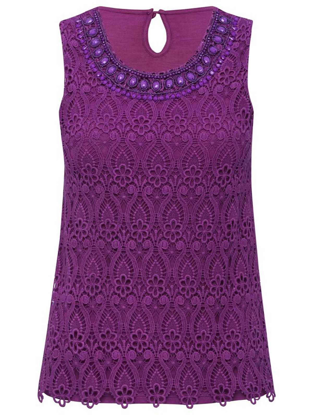 Purple Jewel Embellished Scallop Lace Top  #Oasislync #canadaonline #instagram #instalikes #kidsclothes #fashion #shoppingday #fashionista #fashionstyle #shoppingonline